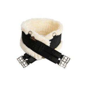 Kentucky sadelgjord nylon och fårskinn svart