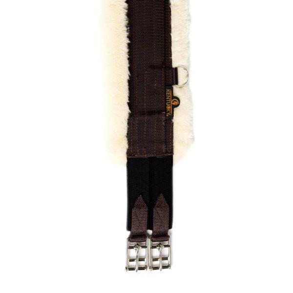 Kentucky sadelgjord nylon och fårskinn detalj