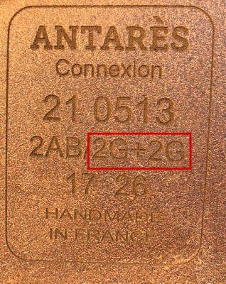 Antarès märkning knä- och vadstöd