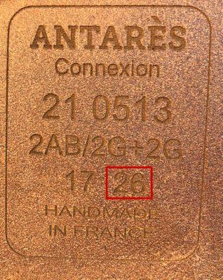 Antarès märkning sitsbredd