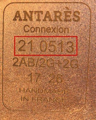 Antarès märkning serienummer