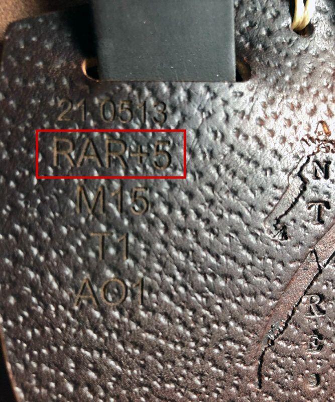 Antarès märkning passform panelförändring