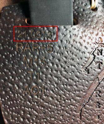 Antarès märkning passform serienummer