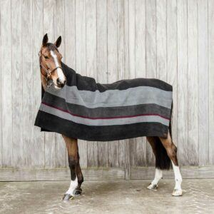 Kentucky filt hevay fleece ränder svart