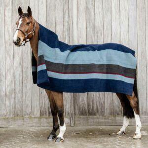 Kentucky filt hevay fleece ränder mörkblå